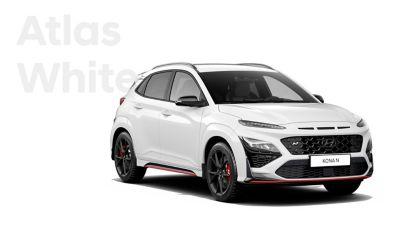 Hyundai KONA N performance SUV in Atlas White.