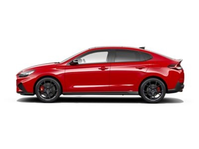 colour options for the new Hyundai i30 Fastback N: Engine Red