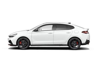 colour options for the new Hyundai i30 Fastback N: Polar White