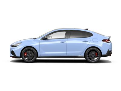 colour options for the new Hyundai i30 Fastback N: Performance Blue
