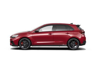 colour options for thenew Hyundai i30 N: Sunset Red