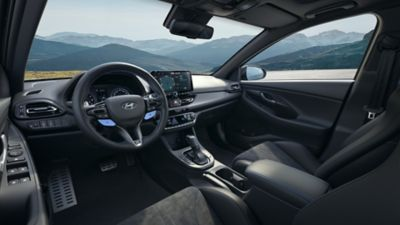 view of the cockpit inside the new Hyundai i30Fastback N