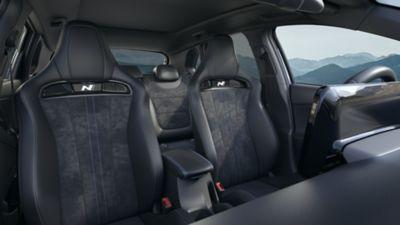 Asientos calefactables frontales del nuevo Hyundai i30 N.