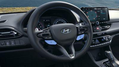 heated steering wheel inside ofthenewHyundai i30 Fastback N