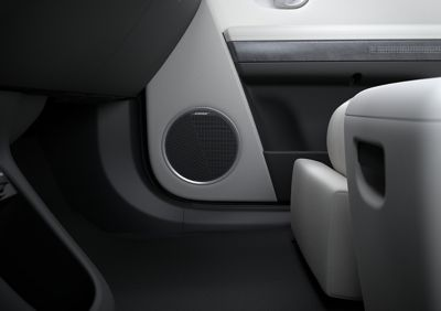 The BOSE premium sound system inside of the Hyundai IONIQ 5 Project 45 all-electric CUV.