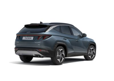 The all-new Hyundai Tucson compact SUV pictured from the side with its sporty look.