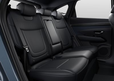 Interieurontwerp van de nieuwe Hyundai TUCSON compact SUV-achterbank.