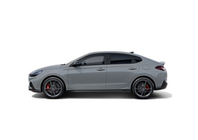 Hyundai i30 Fastback N from the side