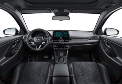Interior view of the new Hyundai i30 N performance hatchback.