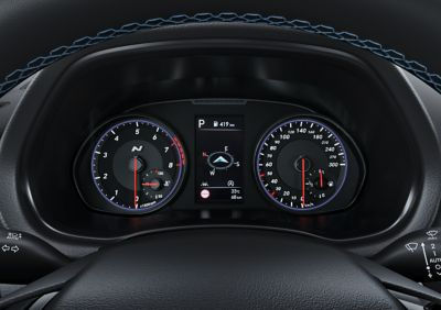 detail of the N Cluster inside the newHyundai i30 N performance hatchback