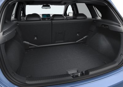 Spacious boot of the new Hyundai i30 N performance hatchback.