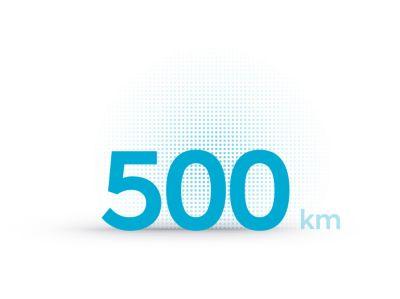 TheHyundai IONIQ 5 electric midsize CUVs 500 km driving range.