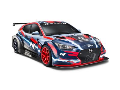 Clearcut of the Hyundai VELOSTER N ETCR.