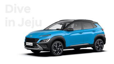 La nuova grande varietà di opzioni di colore di Nuova Hyundai KONA Hybrid: Dive in Jeju