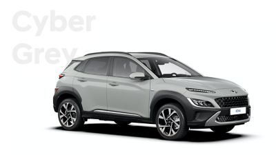 The new great variety of colour options of the new Hyundai Kona: Cyber Grey.