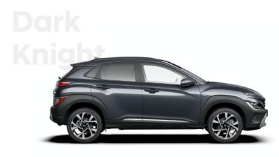 The new great variety of colour options of the new Hyundai Kona: Dark Knight.