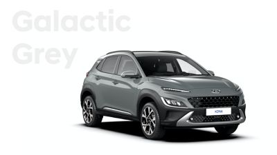 The new great variety of colour options of the new Hyundai Kona: Galactic Grey.