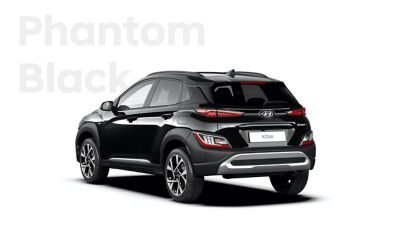 The new great variety of colour options of the new Hyundai Kona: Phantom Black.