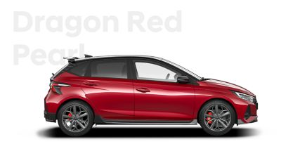 The all-new Hyundai i20 N in Dragon Red.