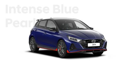 The all-new Hyundai i20 N in Intense Blue.