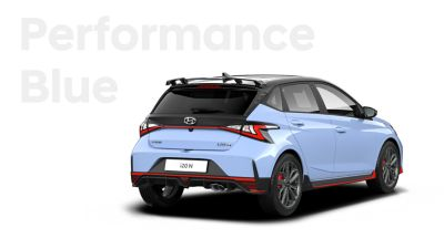 The all-new Hyundai i20 N in Performance Blue