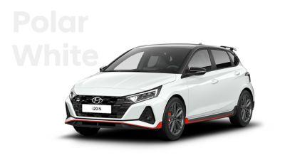 The all-new Hyundai i20 N in Polar White.