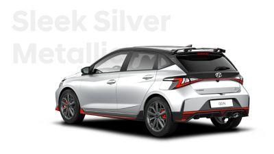 The all-new Hyundai i20 N in Sleek Silver.