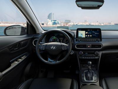 Immagine degli interni di Hyundai Kona Hybrid