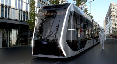 A hydrogen powered Hyundai concept street car.