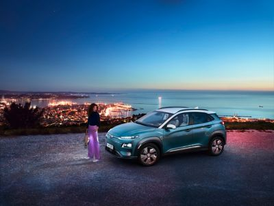 Hyundai KONA Electric dostępny w wyprzedaży.