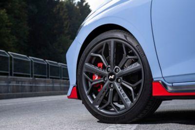 "The 18"" alloy wheels on the all-new Hyundai i20 N."