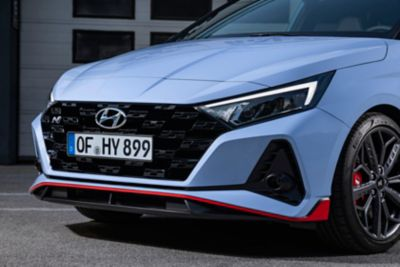 The front grille on the all-new Hyundai i20 N.