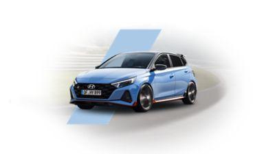 Nowy Hyundai i20 N ujęcie z przodu i boku.