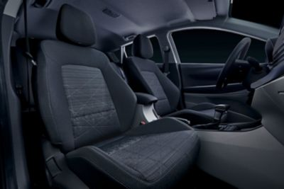 Front seats of the all-new Hyundai BAYON.