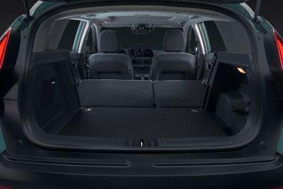 Bagażnik w modelu Hyundai BAYON o pojemności aż do 411 litrów przestrzeni ładunkowej.
