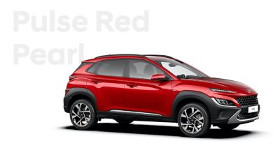 The new great variety of colour options of the new Hyundai Kona: Pulse Red Pearl.