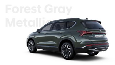 The exquisite exterior colours of the new Hyundai SANTA FE Hybrid: Forest Gray Metallic.