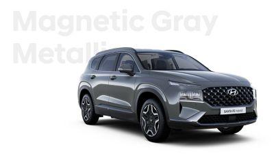 The exquisite exterior colours of the new Hyundai SANTA FE Hybrid: Magnetic Gray Metallic.