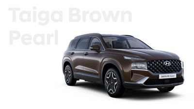 The exquisite exterior colours of the new Hyundai SANTA FE Hybrid: Taiga Brown Pearl.