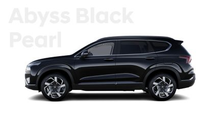 The exquisite exterior colours of the new Hyundai SANTA FE: Abyss Black Pearl.