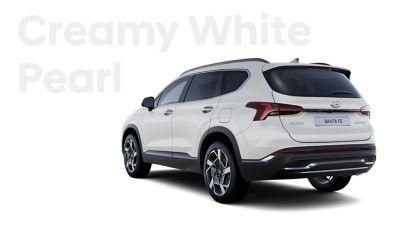Vynikající barvy exteriéru nového Hyundai SANTA FE: Creamy White Pearl.