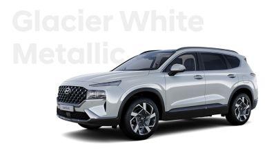 Vynikající barvy exteriéru nového Hyundai SANTA FE: Glacier White Metallic.