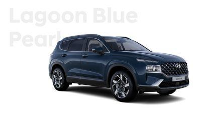 Vynikající barvy exteriéru nového Hyundai SANTA FE: Lagoon Blue Pearl.