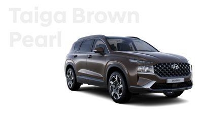 Vynikající barvy exteriéru nového Hyundai SANTA FE: Taiga Brown Pearl.