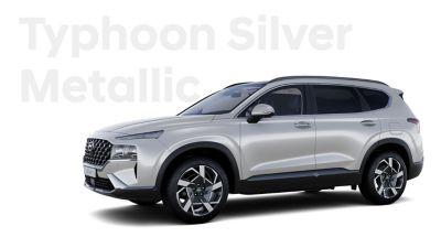 Vynikající barvy exteriéru nového Hyundai SANTA FE: Typhoon Silver Metallic.