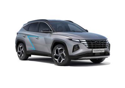 Drzwi nowego kompaktowego SUV-a Hyundai TUCSON Plug-in Hybrid – ujęcie z boku.