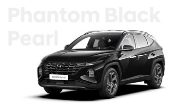 The different color options for the all-new Hyundai Tucson Hybrid compact SUV: Phantom Black Pearl.