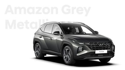 The different color options for the all-new Hyundai Tucson compact SUV: Amazon Grey Metallic.