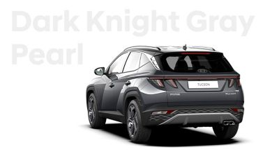 The different color options for the all-new Hyundai Tucson compact SUV: Dark Knight Gray Metallic.