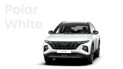 The different color options for the all-new Hyundai Tucson compact SUV: Polar White.